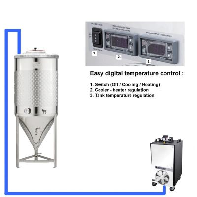 CT1CCT-SNP: Kompletní fermentační soupravy s tanky SNP 0bar