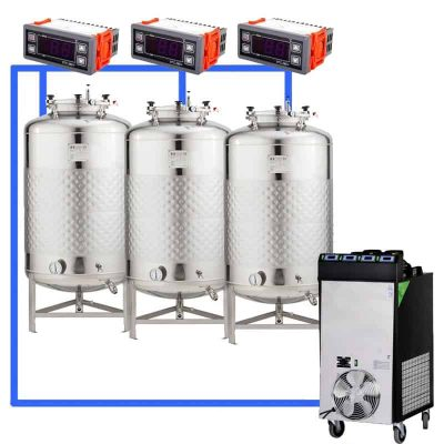 CFS1C-FMT-100 : Complete fermentation systems with cylindrical fermentors 100 L