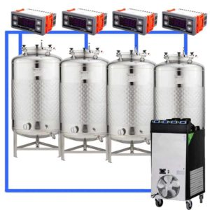 CFSCT1-4xFMT100SLP : Complete fermentation set with 4xFMT-SLP 120 liters