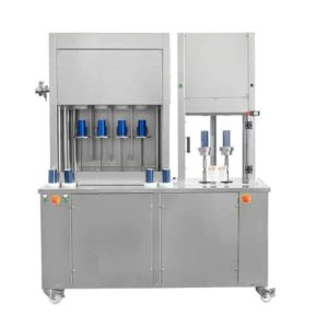 CFSA-MB442 Compact semiautomatic can filling machine