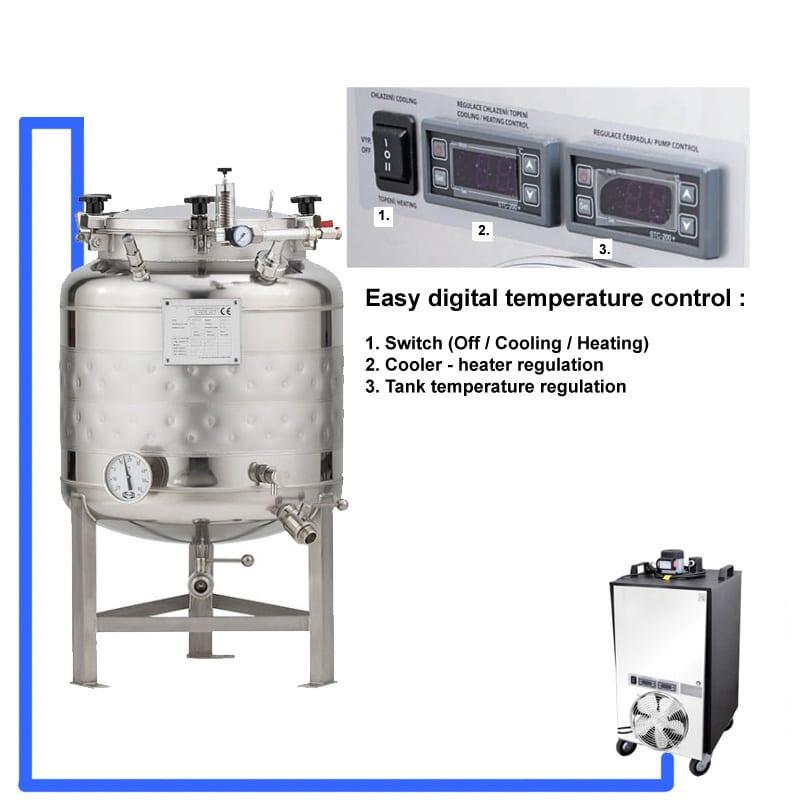 CFSCT1 1xCFT SLP 100H EN Complete beer fermentation maturation set onetank - BREWMASTER BM-10 Compact wort brew machine - the 11L brewhouse