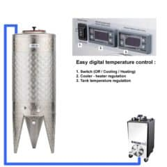 CFSCT1-1xCFT-SNP-100H Complete fermentation set with 1x CFT-SNP 120 liters, direct cooling