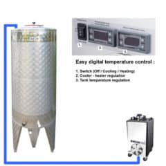 CFSCT1-1xCFT-SNP-200H Complete fermentation set with 1x CFT-SNP 240 liters, direct cooling