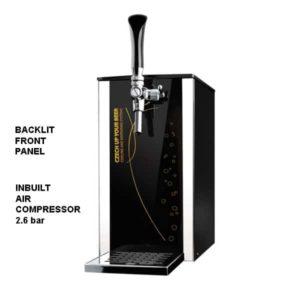 DBCS-BPE25 Black Pearl Exclusive: kompaktiškas alaus aušintuvas / su kompresoriumi, 1 / 8 HP
