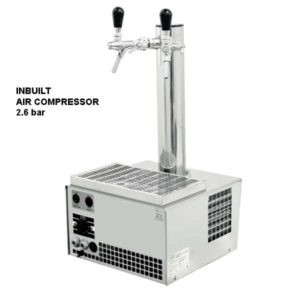 DBCS-ST25AC Slim Tower : Compact beer cooler / with compressor, 1/8 HP
