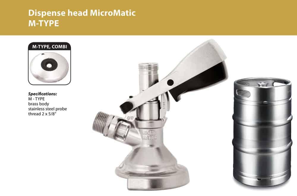 DHK MMCM 03 - DHK-MMCM Dispense head MicroMatic for beer kegs - type M - dhk