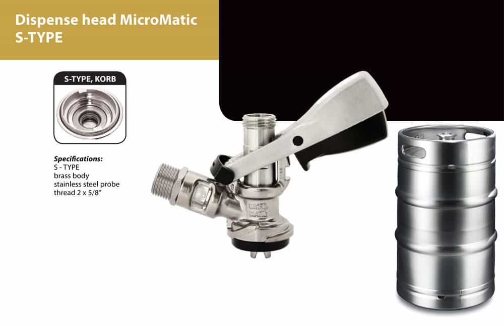 DHK MMCS 03 - DHK-MMCS Dispense head MicroMatic for beer kegs - type S - dhk