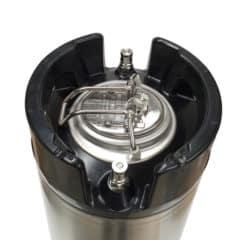 FKRV-09 Закісанне з нержавеючай сталі бочачку з ахоўным клапанам ціску 9.5 літраў 9 бар