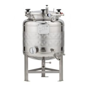 FMT-SHP-100H Round-bottom fermenter, non-insulated, cooled by liquid, 100/120 liters 2.5 bar