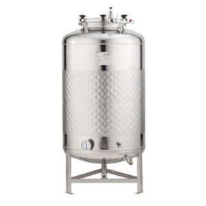 FMT-SLP-1000H Round-bottom fermenter, non-insulated, cooled by liquid, 1000/1150 liters 1.2 bar