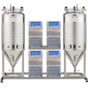 FUIC-SHP4C-2x1000CCT Kompaktní fermentační jednotka 2 × 1000 / 1170 litrů 2.5 bar