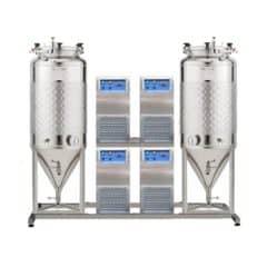 FUIC-SLP4C-2x1200CCT – Fermentation & maturation self-cooled unit 2×1200/1404 liters 1.2 bar