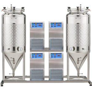 FUIC-SLP4C-2x1200CCT Kompaktní fermentační jednotka 2 × 1200 / 1404 litry 1.2 bar