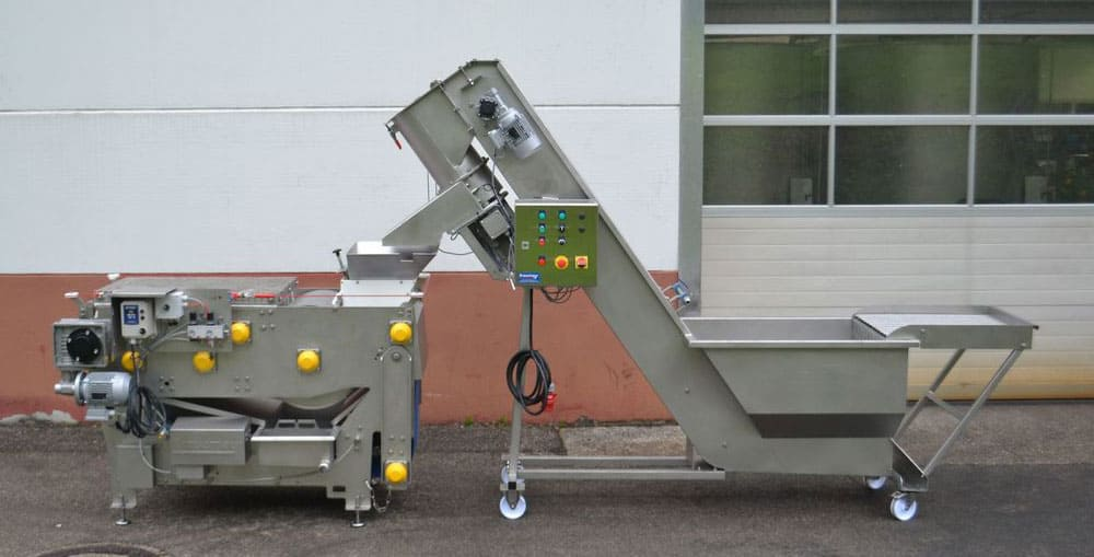 FWC 2000A and FBP 800 set - FWC-2000AP Fruit washer-crusher 2000 kg/hour with pump