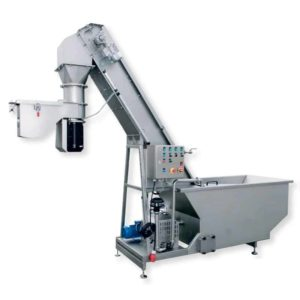 FWDC-5500P-A : Fruit washer, dryer, crusher 5500kg/hour with pump