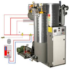 BR-GSG-1500 Boiler room with the Gas steam-generator 1500kg/hr