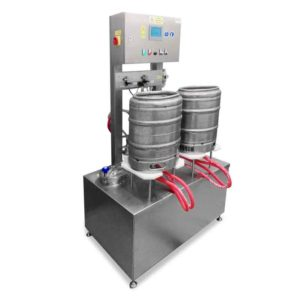 KRF 20 keg rinser filler 02 300x300 - Filling into kegs (beer barrels) : 10-35 kegs/hour
