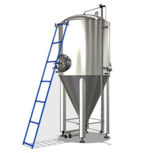 Ladder for fermentation tanks