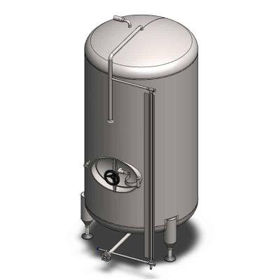 MBTVN : Cylindrical fermentors for the secondary fermentation (maturation) - vertical, non-insulated
