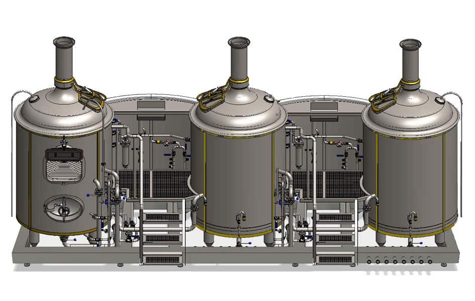Modulo CL3N 500 big 02 - MODULO CLASSIC 3T-500 : Wort brew machine - the special brewhouse