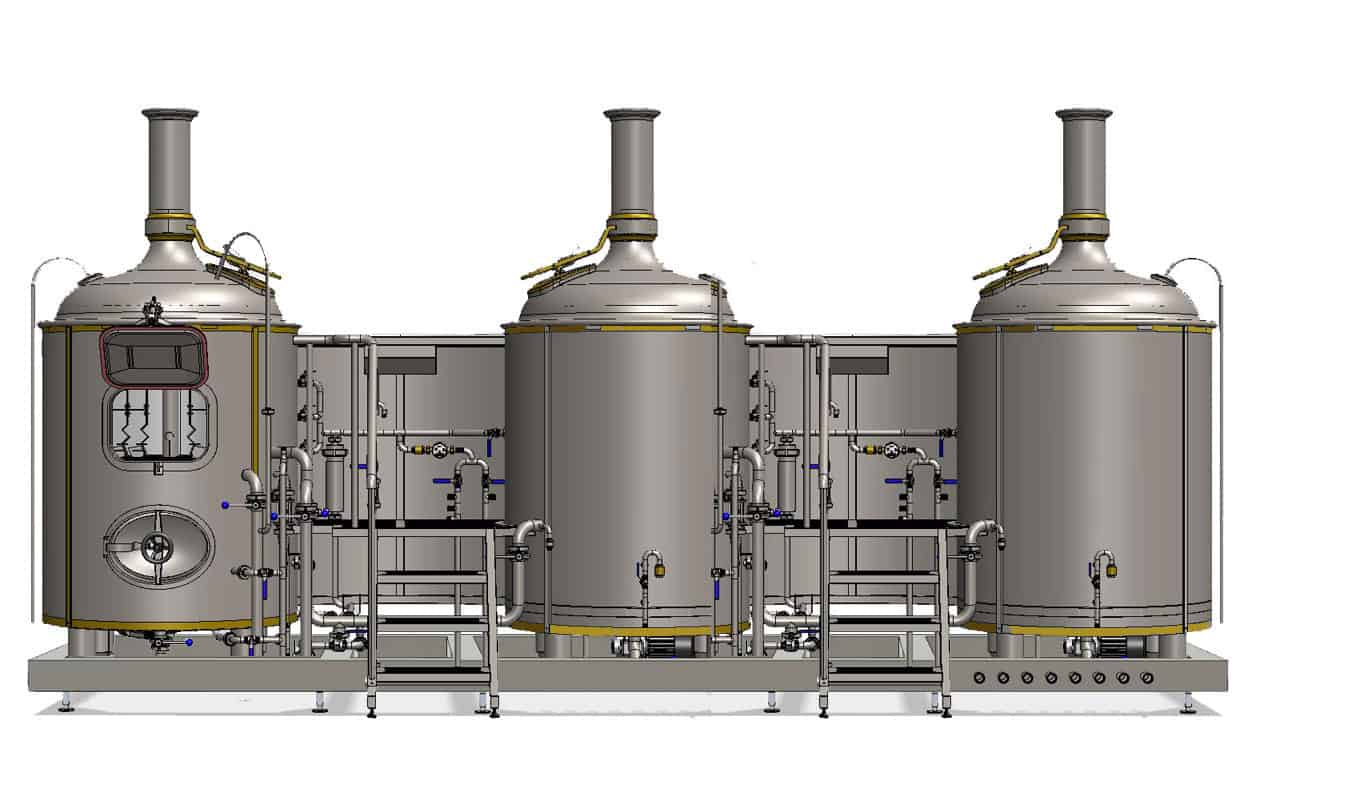 Modulo CL3N 500 big - MODULO CLASSIC 3T-500 : Wort brew machine - the special brewhouse