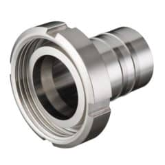 PF-HA4040DC-LV-SS Pipe Fitting Hose Adapter Dairy Coupling Liner Weld DN40 – H40mm, stainless steel AISI 304