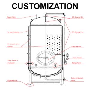 PTA-1000 pritaikymo slėgio talpyklos 0-1000L