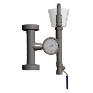 MTS-RV2-DN25TC Slėgio reguliavimo aparatas, tipo 6, su manometru ir oro užraktu fermentams DIN 32676 TriClamp DN 25 Ø34mm