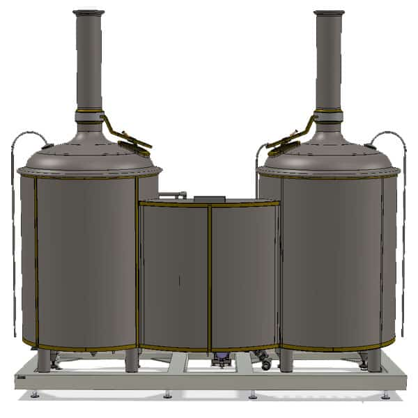 Modulo Classic 1000 brewhouse - rear view on the wort brew machine