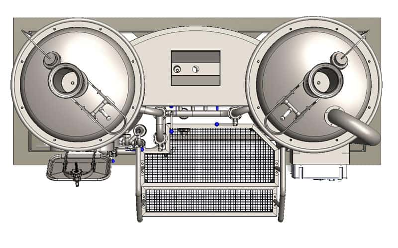 MODULO CLASSIC 250 wort brew machine - top view