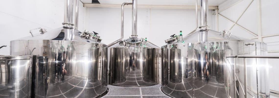 工業用ビール醸造所