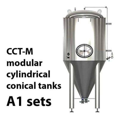 CCT-M modulární válcové kuželové nádrže A1
