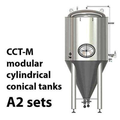 CCT-M modulární válcové kuželové nádrže A2