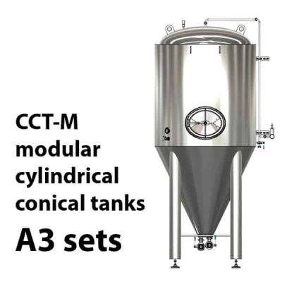 CCT-M modulární válcové kuželové nádrže A3