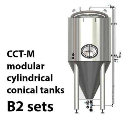 CCT-M modulární cylindricko-kónické nádrže B2