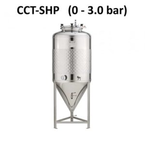 CCT-SHP Cylindrically-conical fermentation tanks, simplified, non-insulated, maximal pressure 2.5bar
