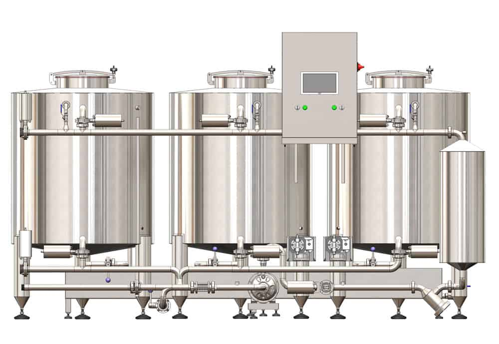 CIP-503 -the cleaning and sanitizing station for medium-size breweries