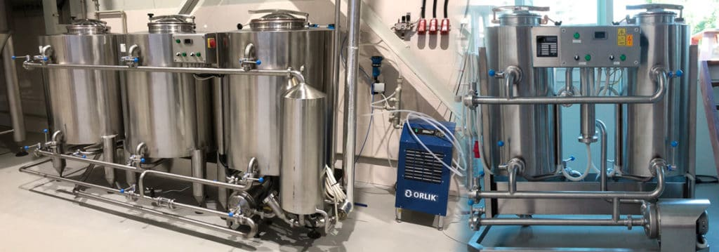 CIP stations : Clean-in-place machines for the chemical cleaning and sanitizing of tanks and pipe routes