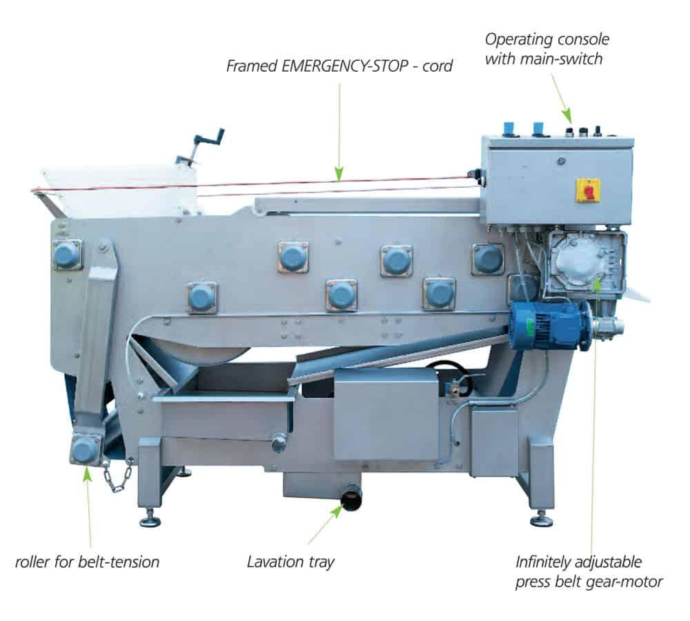 fbp 1200 1000x900 description - FBP-500A Fruit belt press 500 kg/hour