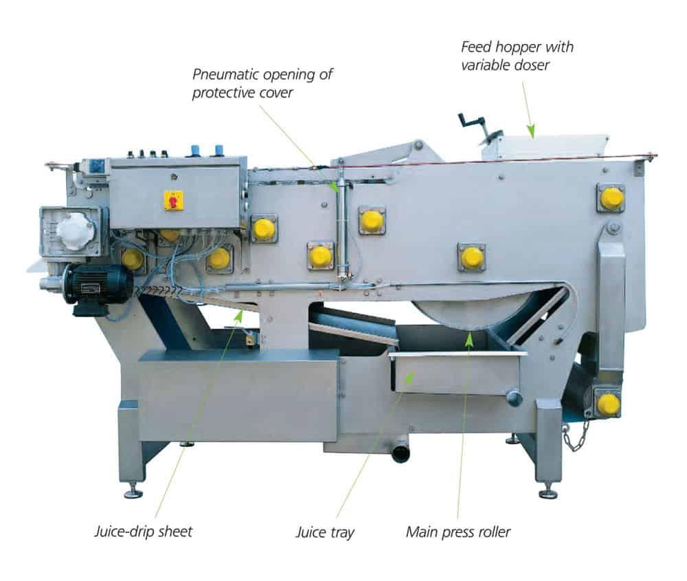 fbp 2400 1000x900 description - FBP-2400A Fruit belt press 2400 kg/hour