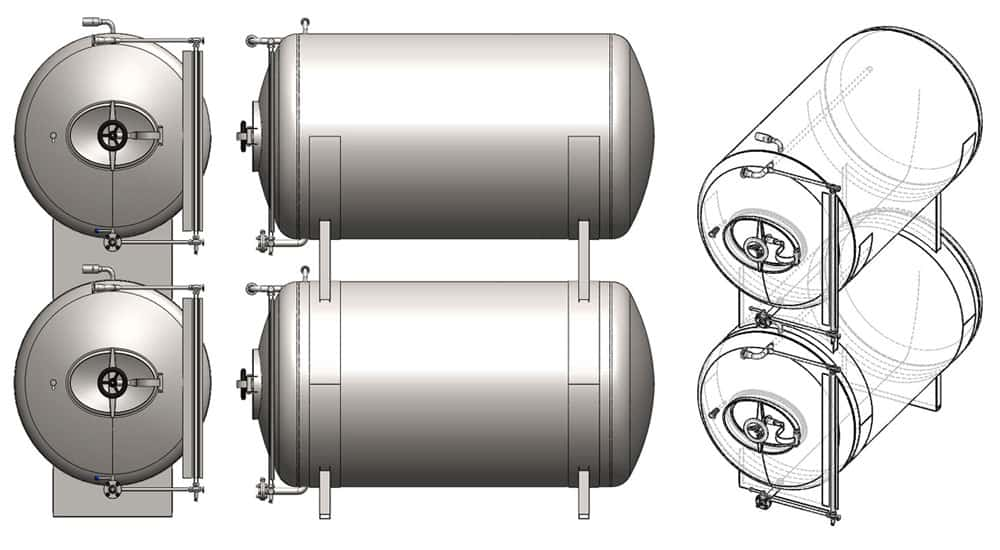MBTHI-400 Cylindrical pressure tank for the secondary fermentation of beer or cider