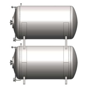 BBTHI-1000C Cylindrical pressure tank for storage and final conditioning of carbonated beverage before bottling, horizontal, insulated, 1000/1203 liters, 3.0bar
