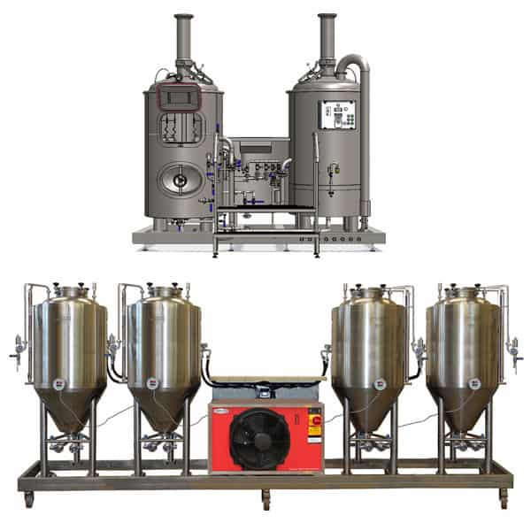 microbreweries breworx modulo 2x250 - MODULO CLASSIC 250 : Wort brew machine – the brewhouse