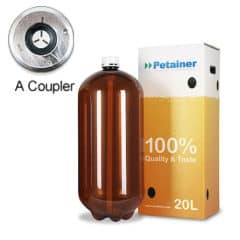 80xPETA-20CLAB 80pcs Petainer Keg 20 liters classic A-coupler with white box