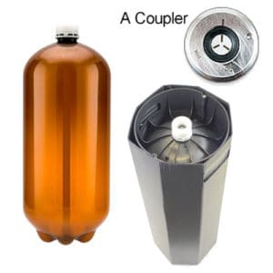 80xPETA-20USDA 80pcs Petainer Keg USD 20 liters A-coupler