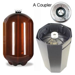 48xPETA-30USDA 48pcs Petainer Keg USD 30 liters A-coupler
