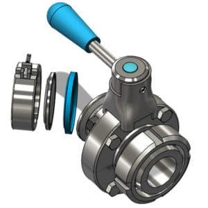TEA-DVS-DN2525DT Disc valve DN25DC/DN25TC