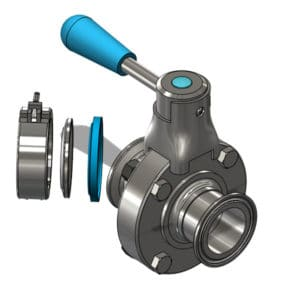 TEA-DVS-DN2525TC Disc valve DN25TC/DN25TC
