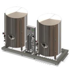 WCUHWT-600 Modulo wort kjøling og vannbehandling enhet 2 × 600 L