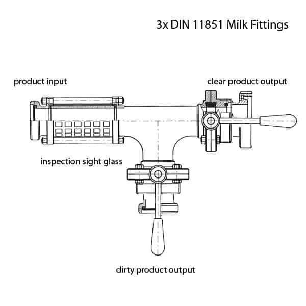 PFH-DIN11851-40 Beverage hose splitter DN40